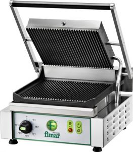PE25RN Cast iron electric grill grooved single singlephase 1700W