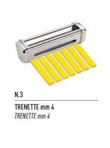 FSE003N - mm4 TRENETTE corte para laminadora de masa