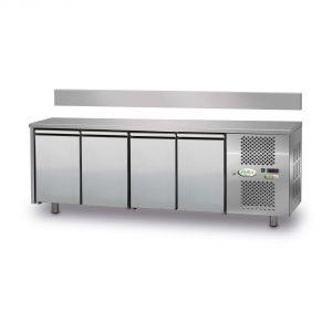 FTR4TN - Mesa refrigerada ventilada de 4 puertas - 0 / + 10 ° - SIN ELEVACIÓN