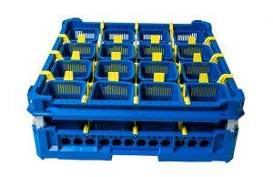 GEN-100145 Cesta per il lavaggio delle posate con 16 cestini portaposate
