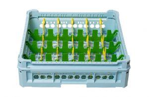 PANIER GEN-K14x6 CLASSIQUE 24 COMPARTIMENTS RECTANGULAIRES - Hauteur verre 65mm