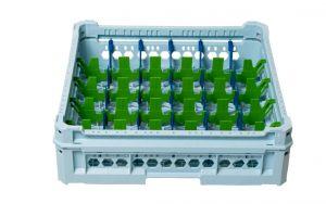 PANIER GEN-K15x6 CLASSIQUE 30 COMPARTIMENTS RECTANGULAIRES - Hauteur verre 65mm
