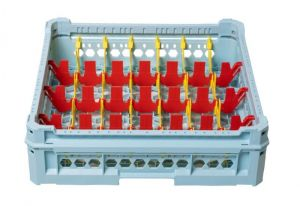 GEN-K34x7 PANIER CLASSIQUE 28 COMPARTIMENTS RECTANGULAIRES - Hauteur de tasse de 120 mm à 240 mm