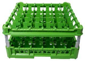 GEN-K36x6 PANIER CLASSIQUE 36 COMPARTIMENTS CARRÉS - Hauteur de tasse de 120 mm à 240 mm