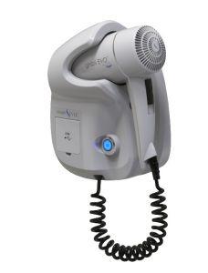 GHIBLI-W Asciugacapelli Ghibli Evo Bianco per uso alberghiero Doppia presa USB