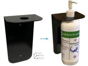 T779055 Soporte de pared de metal diseñado para dispensador de gel o spray desinfectante para manos