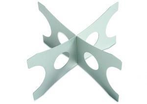 AC-ALZ Alzata h=20 cm in alluminio per vassoi