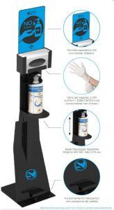 T789151 Professional pedal sanitizing station Black