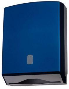 T104326 Dispensador de papel toalla suave al tacto ABS azul 500 hojas