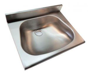 LX1440-5 Lave-mains pour étagères avec épaulement inox 500x350x130 mm -SATINATO-