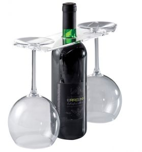 EB00201 GLASSES - Exhibitor for wine and glasses for bottles with hole 3.3 cm
