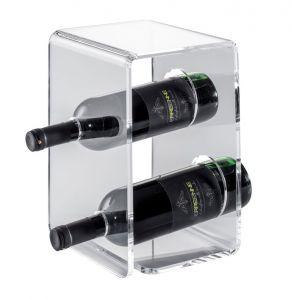 EV00401 TWO - Plexiglass wine display for bottles ø 8.2 cm