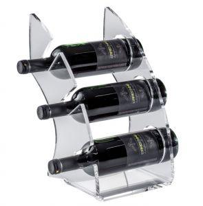 EV01301 CURVY 1 Transparent plexiglass display for bottles ø 8.2 cm