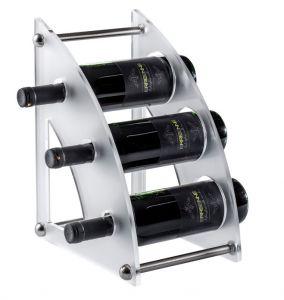 EV01406 CURVY 2 Satin plexiglass display for bottles ø 8.2 cm
