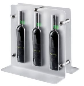 EV02201 TRIO - Satin display for wine for bottles ø 7.5 cm