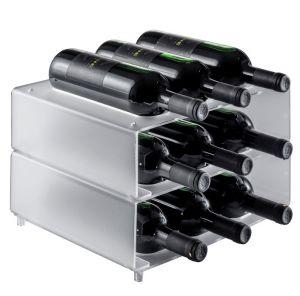 EV02701 NINE - Portabottiglie da appoggio nove sedi per bottiglie ø 8,2 cm