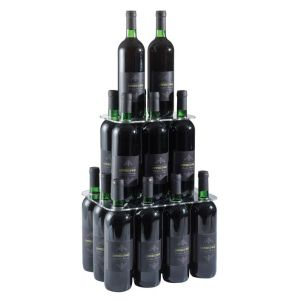 EV04301 PIRAMID - Pyramid upstand with twenty seats for bottles with hole ø 3.3 cm