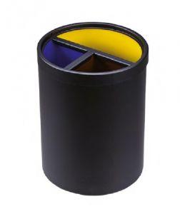 T770141 Corbeille à papier 3 flux avec anneau