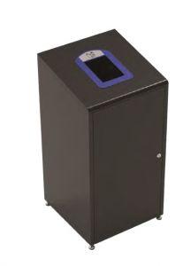 T789021 Papelera para recogida selectiva de residuos 60 litros Negro