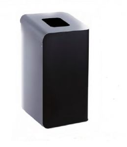 T789202 Waste paper bin for separate waste collection 80 liters - Gray