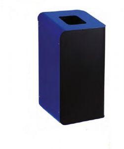 T789205 Poubelle à papier pour tri sélectif 80 litres - Bleu