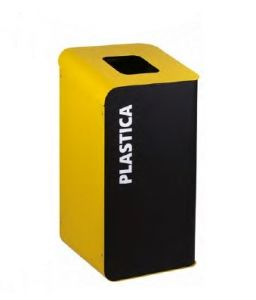 T789206 Cubo de basura para recogida selectiva de residuos 80 litros - Amarillo