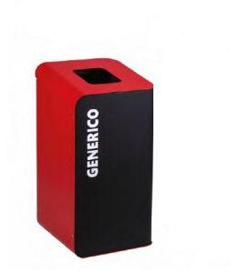 T789207 Cubo de basura para recogida selectiva de residuos 80 litros - Rojo