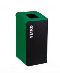 T789208 Poubelle à papier pour la collecte sélective des déchets 80 litres - Vert