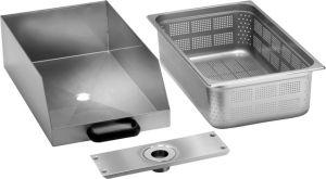 Tiroir CCF avec filtre en acier inoxydable pour éplucheur / polisseur de pommes de terre PPF-LCF