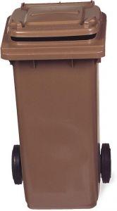 AV4679 Brown dustbin 2 wheels 100 liters