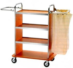 CA1510  Laundry cleaning multipurpose cart 2 Folding sack-holders