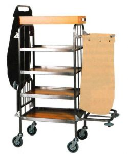 CA740  Laundry cleaning multipurpose trolley 4 shelves