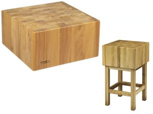 CCL2566 Bloque de madera de 25 cm con taburete 60x60x90h