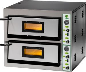 FME44M Electric pizza oven 8.4 kW double room 61x61x14h - Single phase