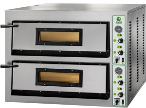FML44M Electric pizza oven 12 kW double room 72x72x14h cm - Single phase