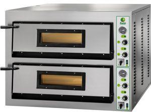 FML44M Four à pizza électrique 12 kW chambre double 72x72x14h cm - Monophasé