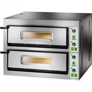 FYL44M Electric pizza oven 12 kW double room 72x72x14h cm - Single phase