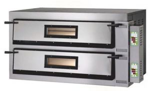 FMD44M Electric pizza oven 12kW digital 2 rooms 72x72x14h cm - Single phase