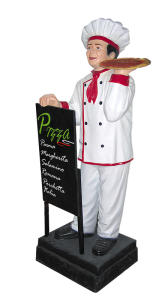 ER005C Pizzaiolo tridimensionale alto 140 cm