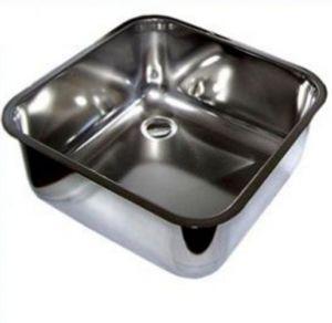 LV33/33A lavabo cuadrado de acero inoxidable dim. 330x330X200h encastrable con desagüe