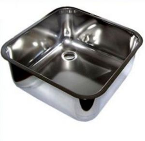 LV34/40 Rectangular stainless steel sink for the bar diameter. 340 x 400 mm welded with waste and siphon