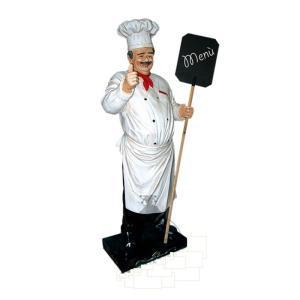 IGR006 Cocinero con bigote tres dimensiones alto 180 cm