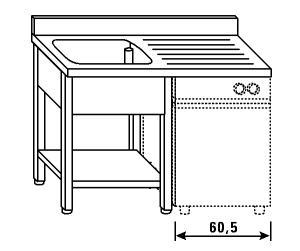 LT1196 jambes laver et lave-vaisselle plateau