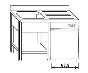LT1206 jambes laver et lave-vaisselle plateau