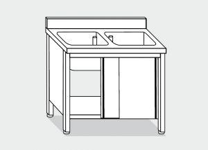 LT1008 lavado en el gabinete de acero inoxidable