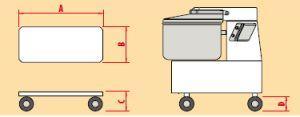 IMPSCARR20 Cart for spiral kneader mod. 20