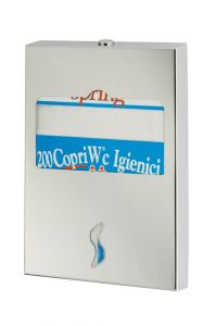 T105052 AISI 304 brushed stainless steel Toilet seat cover dispenser