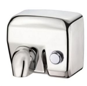 T704176 Push button Polished stainless steel AISI 304 hand dryer