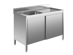 EU01601-10 lavatoio armadio ECO cm 100x60x85h  1 vasca e sg dx - porte scorrevoli