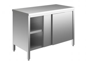 EU03200-10 tavolo armadio ECO cm 100x60x85h  piano liscio - porte scorrevoli